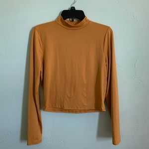 Yellow Cropped Long Sleeve